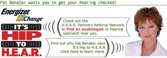 Pat Benatar wants you to get your hearing checked!