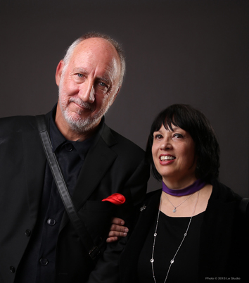 Pete Townshend and Kathy Peck of H.E.A.R. Les Paul Award TEC Awards NAMM 2013